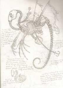 Steampunk seadragon
